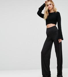 Широкие брюки ASOS TALL - Кремовый