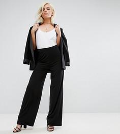 Широкие брюки ASOS PETITE - Черный