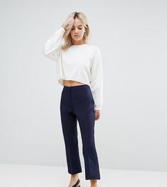 Узкие укороченные брюки с клешем ASOS PETITE - Темно-синий