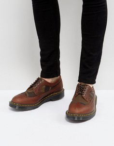 Броги с камуфляжным принтом Dr Martens Made In England 3989 - Рыжий