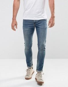 Синие выбеленные джинсы скинни плотностью 12,5 унц ASOS - Синий