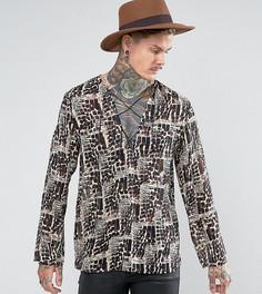Рубашка классического кроя со шнуровкой Reclaimed Vintage Inspired - Коричневый