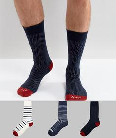 Набор из 3 пар носков с логотипом Abercrombie & Fitch - Синий
