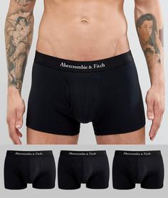 Набор из 3 пар черных боксеров‑брифов с логотипом на поясе Abercrombie & Fitch - Черный
