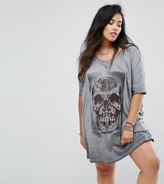 Платье-футболка с принтом Religion Plus - Черный