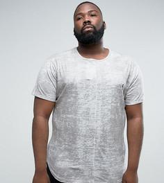Фактурная футболка с логотипом Religion PLUS - Серый