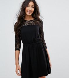 Платье мини с кружевными рукавами ASOS TALL - Черный
