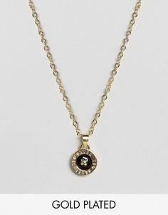 Ожерелье с эмалированной подвеской-пуговицей Ted Baker - Золотой