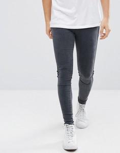 Серые супероблегающие джинсы Dr Denim Dixy - Серый