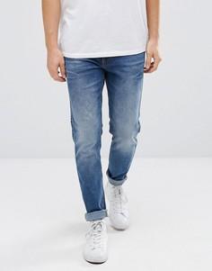 Синие узкие джинсы Dr Denim Clark - Синий