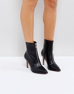 Полусапожки на молнии с заостренным носком ASOS ELLISON - Черный