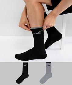 Набор из 2 пар носков черного и серого цвета Hollister - Мульти