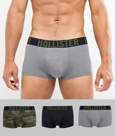 Набор из 3 пар боксеров-брифов (серый/камуфляжный принт/черные) Hollister - Мульти