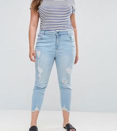 Джинсы с винтажном стиле New Look Curve - Синий