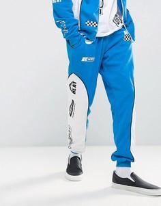 Синие зауженные джоггеры с принтом Jaded London - Синий