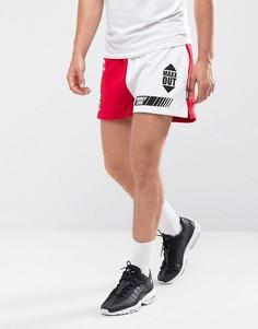Белые шорты с принтом в гоночном стиле Jaded London - Белый