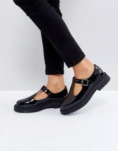Туфли на толстой плоской подошве ASOS MOUNTAIN - Черный