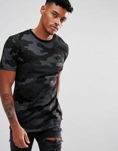 Черная футболка с камуфляжным принтом Hype - Черный