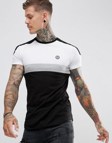Черная футболка с контрастными вставками Hype - Черный