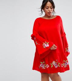 Платье мини с вышивкой ASOS CURVE ULTIMATE - Красный