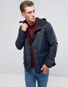 Темно-синяя куртка на флисовой подкладке Lyle & Scott - Темно-синий