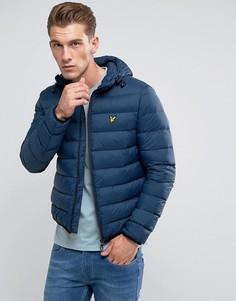 Темно-синяя легкая дутая куртка Lyle & Scott - Темно-синий