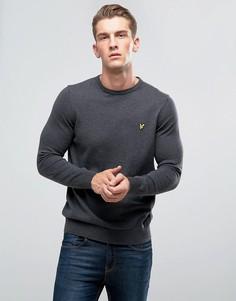 Темно-серый джемпер с добавлением мериносовой шерсти Lyle & Scott - Серый