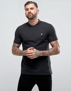 Черная футболка-поло на молнии Lyle & Scott - Черный