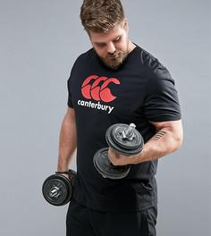 Черная футболка с логотипом Canterbury PLUS E546720-989 - Черный