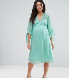 Платье со шнуровкой ASOS Maternity - Синий