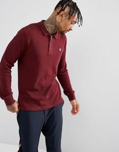 Бордовая футболка-поло с длинными рукавами Fila Vintage - Красный