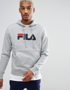 Серый худи с большой аппликацией-логотипом Fila Vintage - Серый