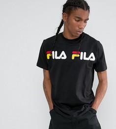 Черная футболка с логотипом на вставке Fila эксклюзивно для ASOS - Черный