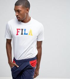 Черная футболка колор блок с большим логотипом Fila эксклюзивно для ASOS - Белый