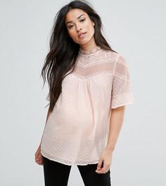 Кружевная блузка New Look Maternity - Розовый