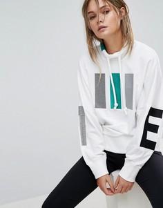 Белый свитшот с высоким воротом Adidas EQT - Белый