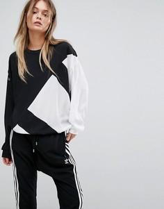 Черный с белым свитшот Adidas Originals EQT - Черный