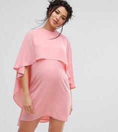 Свободное платье с кейпом Queen Bee Maternity - Розовый