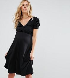 Платье с пышными рукавами New Look Maternity - Черный