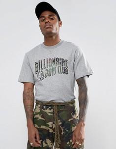Серая футболка с камуфляжным принтом логотипа Billionaire Boys Club - Серый