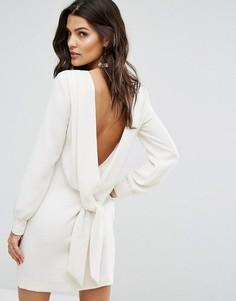 Платье А-силуэта с открытой спиной BA&SH - Кремовый Ba&Sh