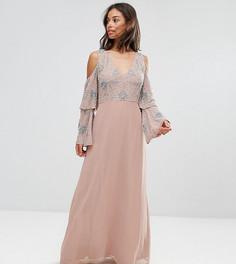 Платье макси с декоративной отделкой Maya Petite - Розовый