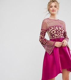 Платье миди с асимметричной юбкой Maya Tall - Розовый