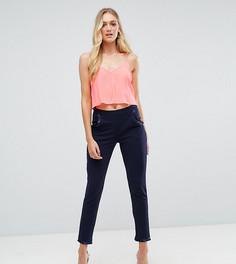 Широкие брюки с рюшами на карманах ASOS TALL - Темно-синий