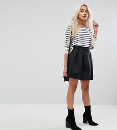 Мини-юбка со складками ASOS PETITE - Черный