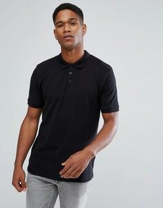 Зауженная футболка-поло Only & Sons - Черный