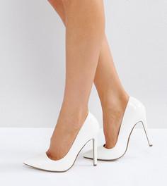Лакированные туфли-лодочки на высоком каблуке с острым носком Missguided - Белый