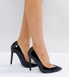 Лакированные остроносые туфли-лодочки на каблуке Missguided - Черный