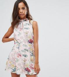 Чайное платье с цветочным принтом Missguided Petite - Мульти