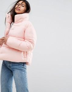 Оверсайз-куртка с высоким воротником Puffa - Розовый